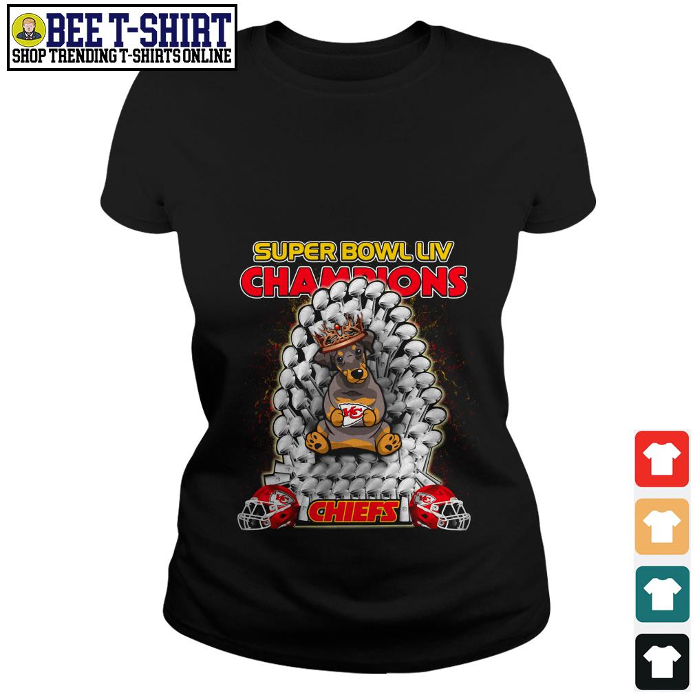 Kansas City Chiefs super bowl LIV champions Dobermann Chiefs Ladies Tee
