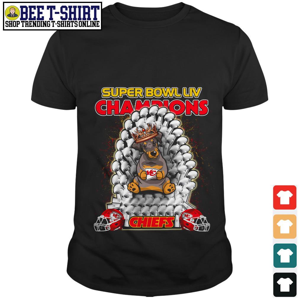 Kansas City Chiefs super bowl LIV champions Dobermann Chiefs shirt