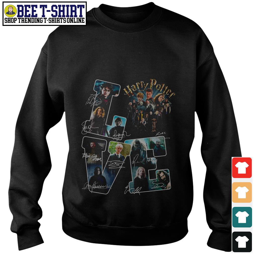 Love Harry Potter characters signatures Sweater