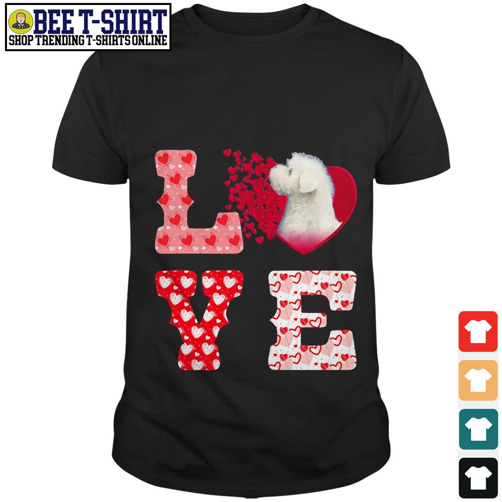 Maltese love valentine shirt