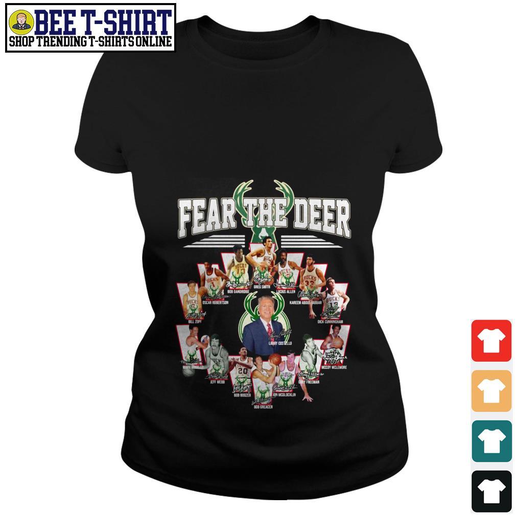 Milwaukee Bucks Fear the Deer players Ladies Tee