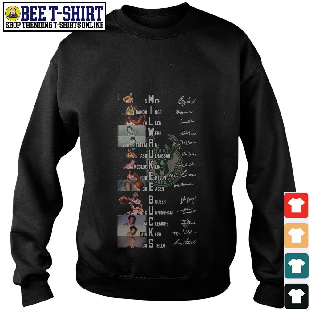 Milwaukee Bucks players signature Sweater