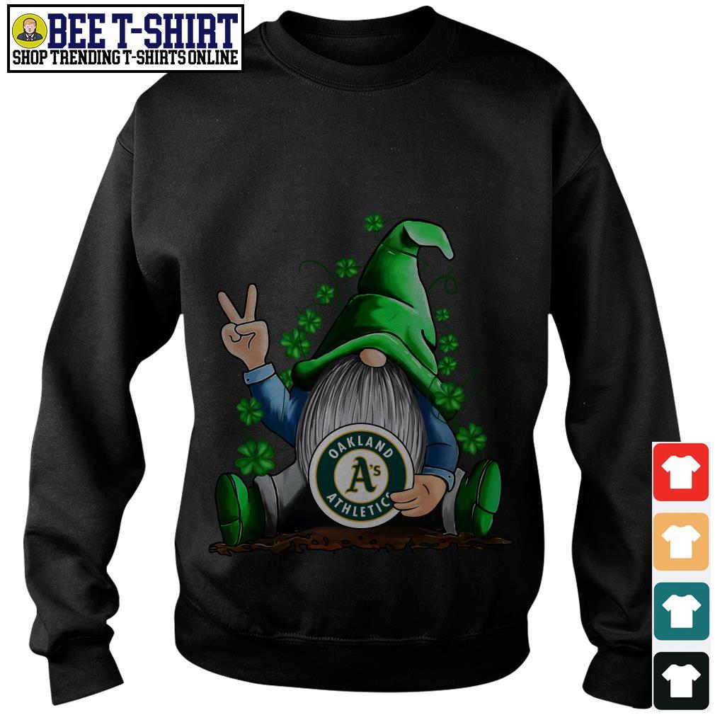 MLB Gnomes Lucky Hug Oakland Athletics Baseball Sweater
