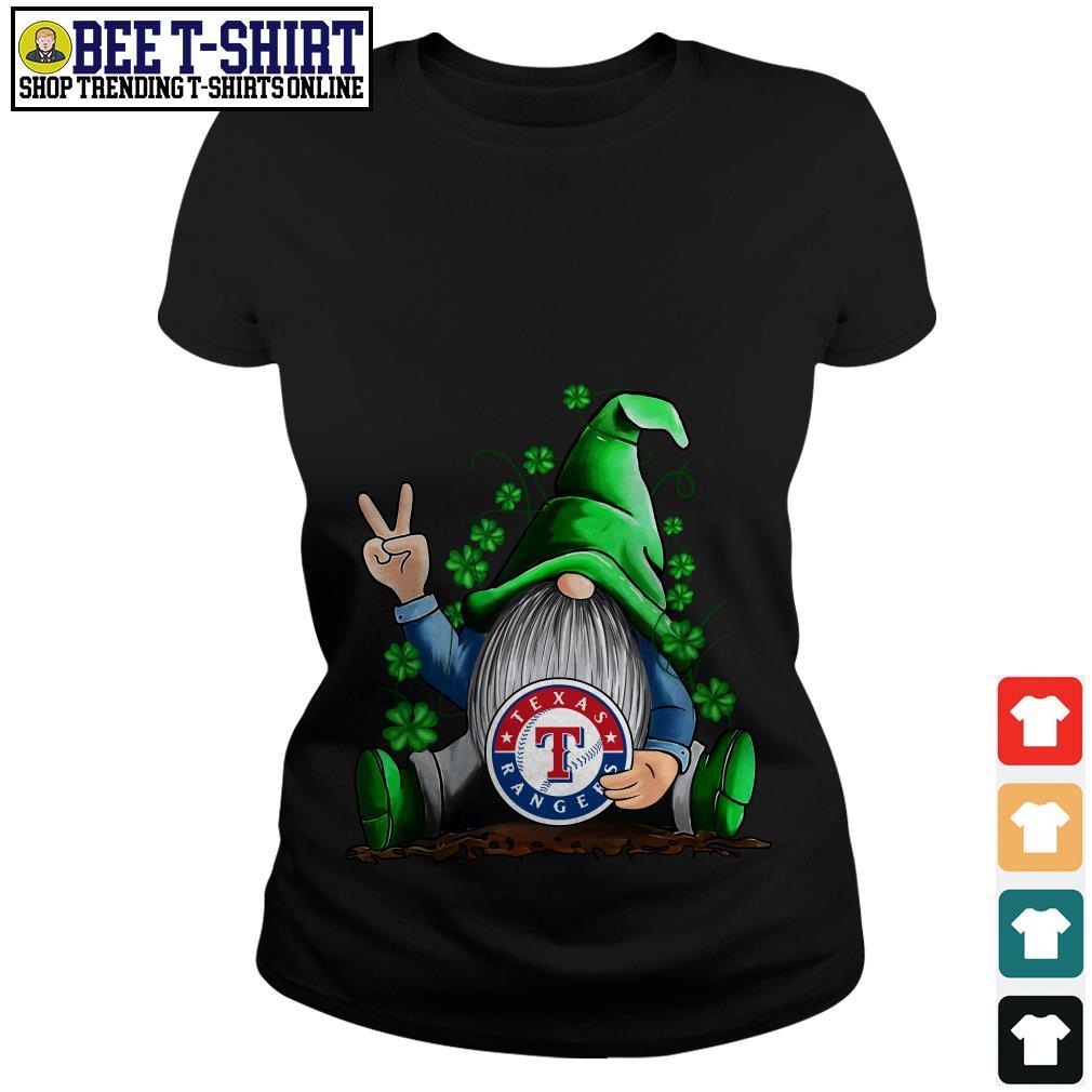 MLB Gnomes Lucky Hug Texas Rangers Baseball Ladies Tee