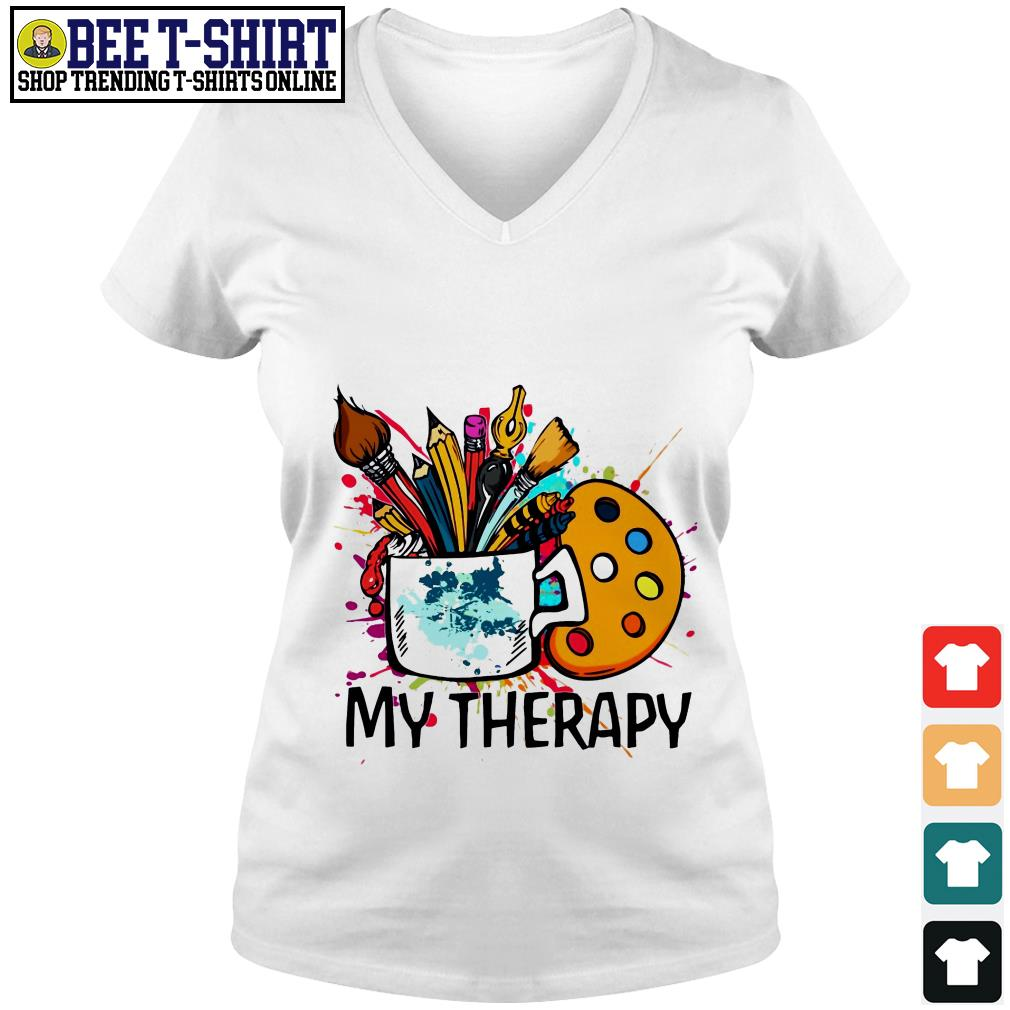 My therapy painting tools V-neck T-shirt