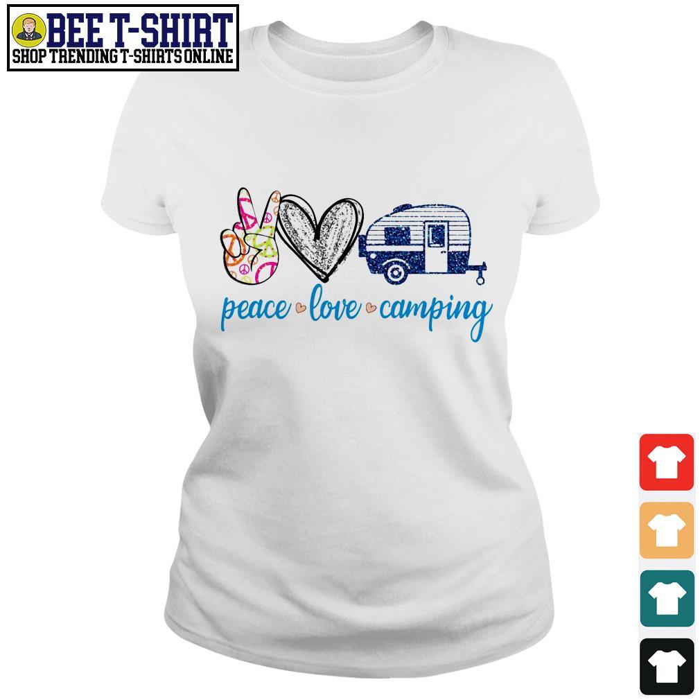 Peace love camping Ladies Tee