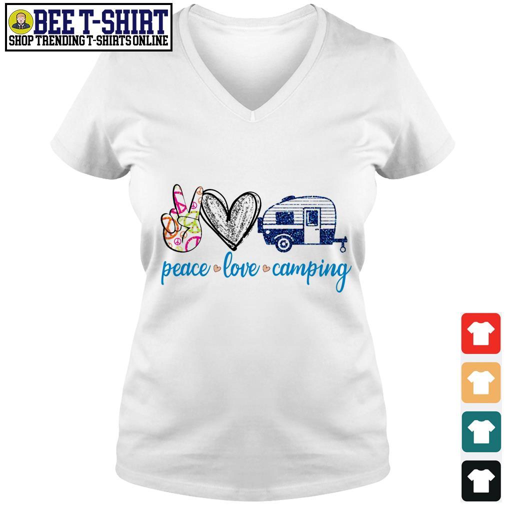 Peace love camping V-neck T-shirt