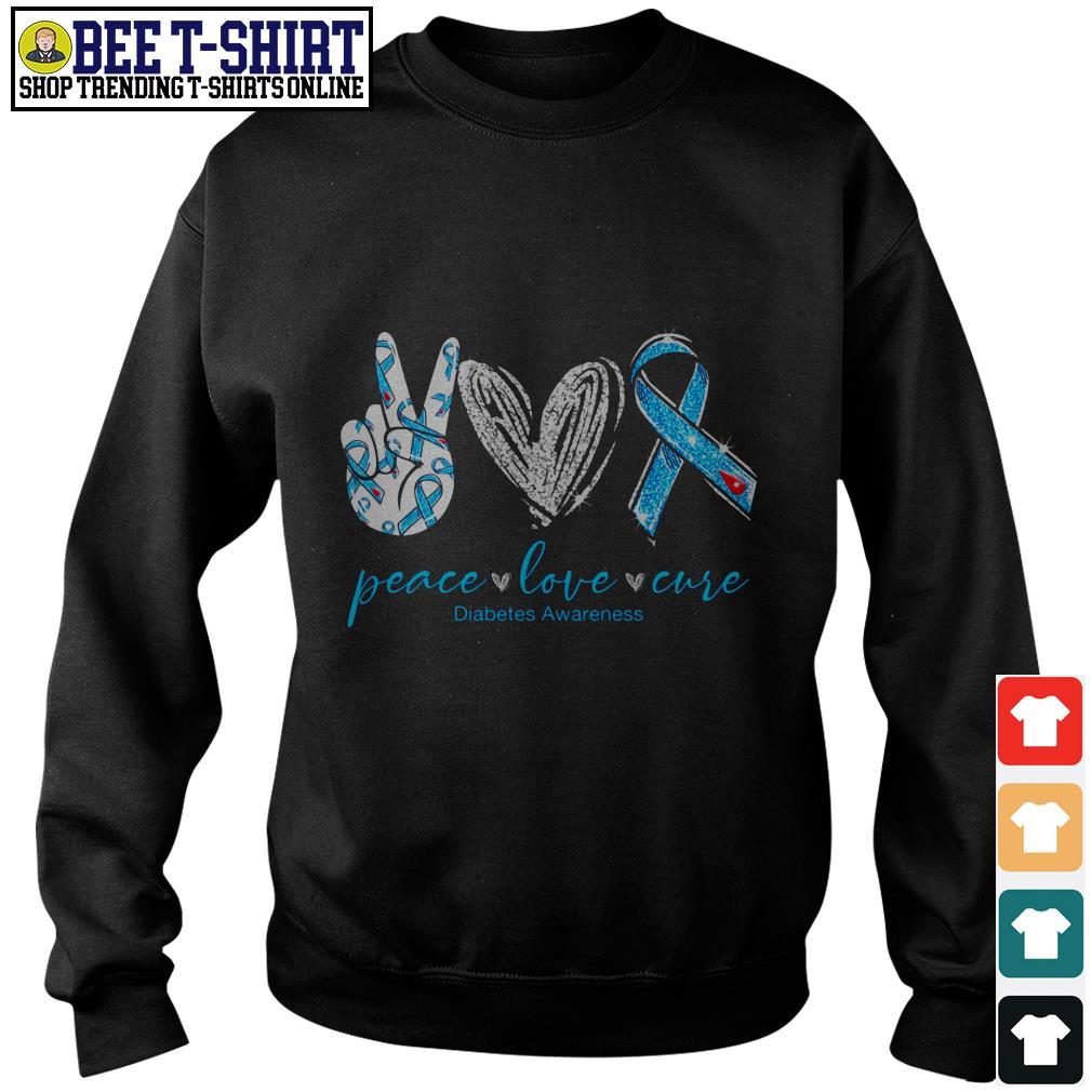 Peace love cure Diabetes Awareness Sweater