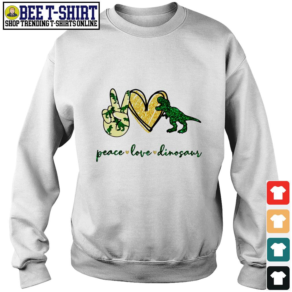 Peace love Dinosaur Sweater