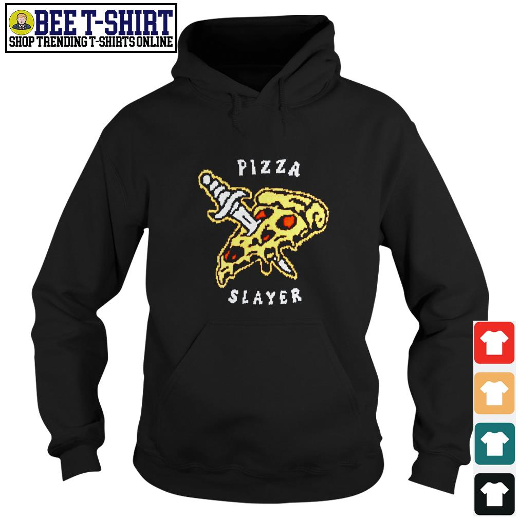 Pizza and knife Pizza slayer Hoodie