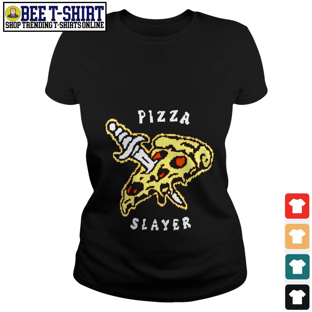 Pizza and knife Pizza slayer Ladies Tee