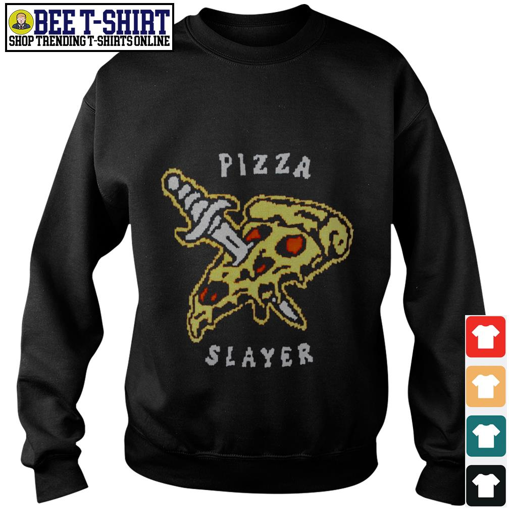 Pizza and knife Pizza slayer Sweater