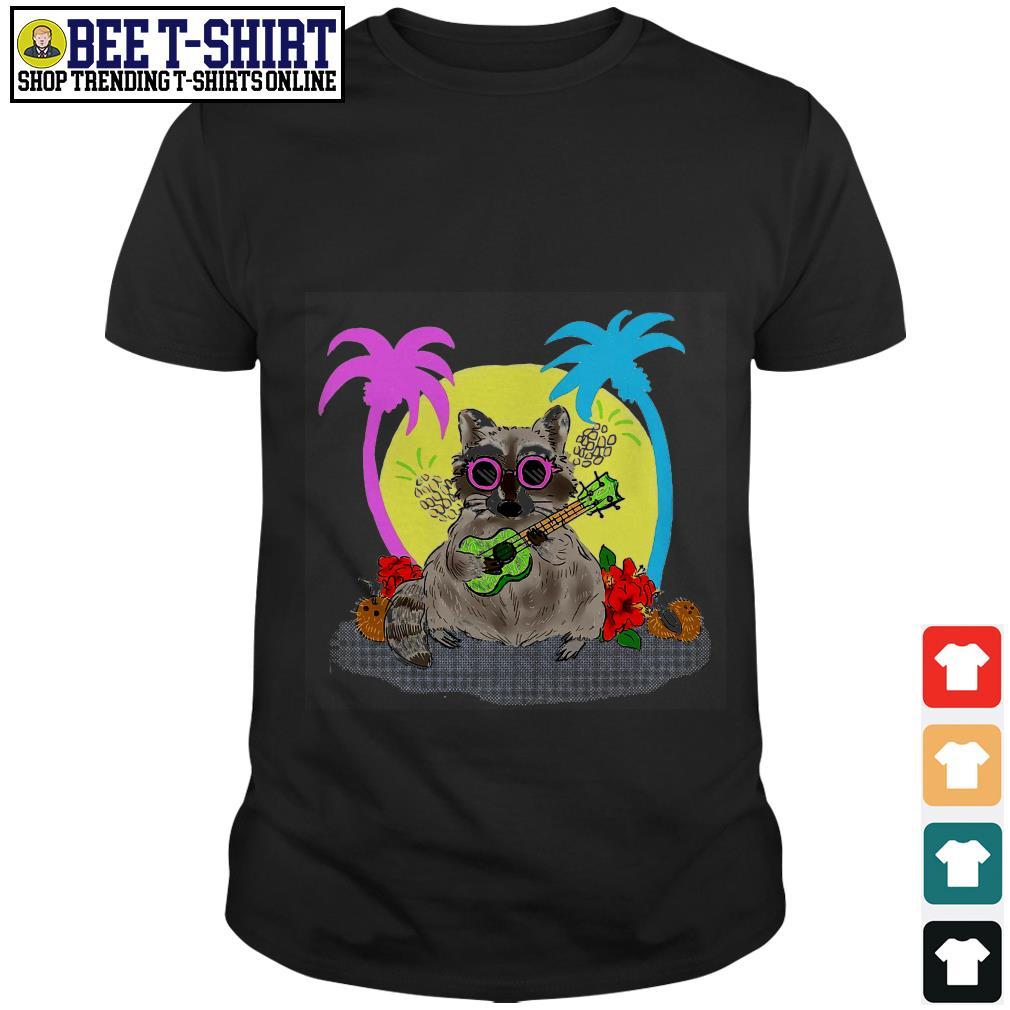 Raccoon on the beach shirt