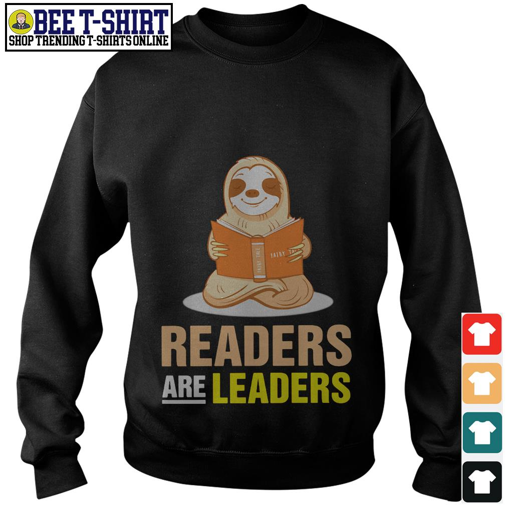 Sloth readers are leaders Sweater