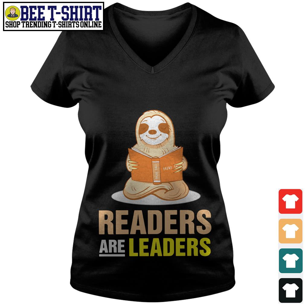Sloth readers are leaders V-neck T-shirt
