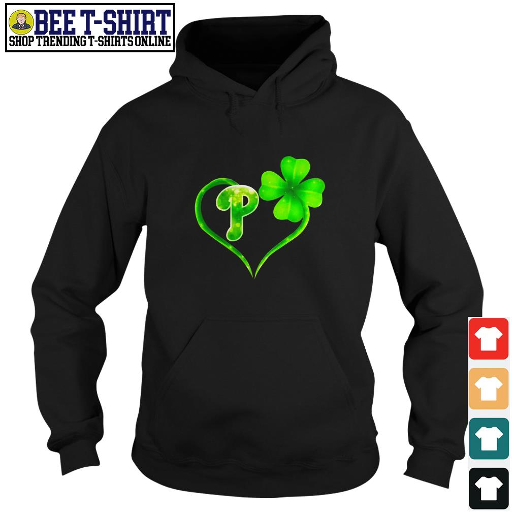 St' Patrick's Day four leaf clover and P Hoodie