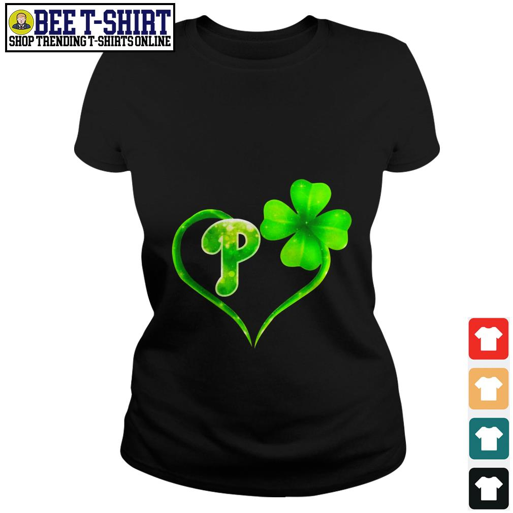St' Patrick's Day four leaf clover and P Ladies Tee