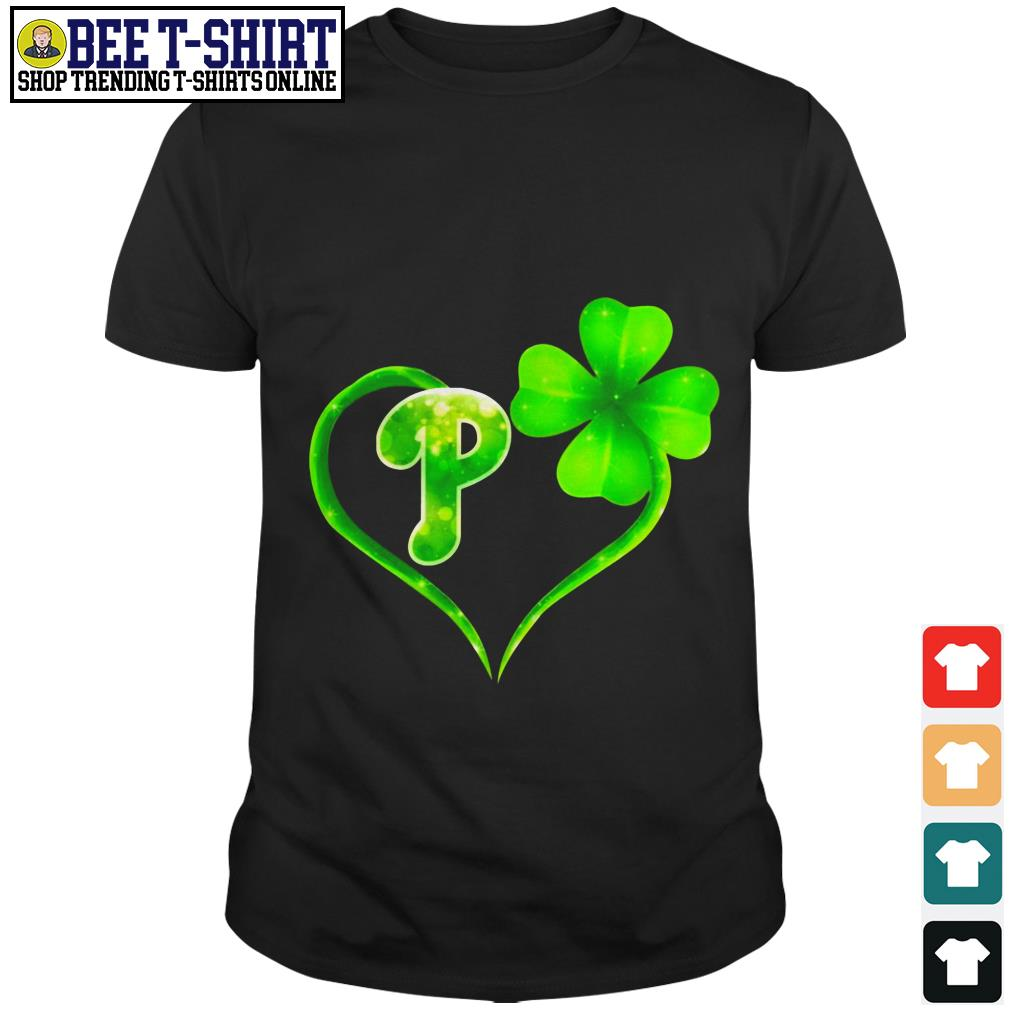 St' Patrick's Day four leaf clover and P shirt