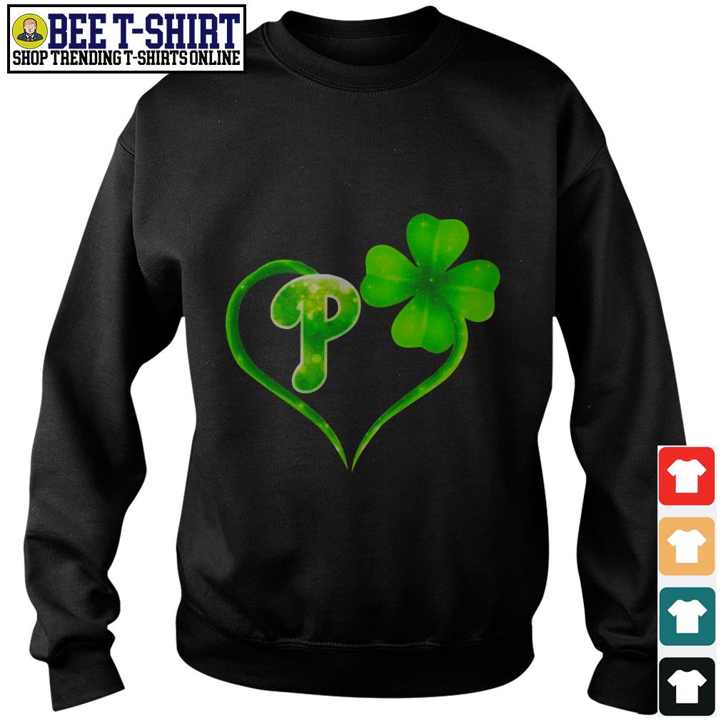 St' Patrick's Day four leaf clover and P Sweater