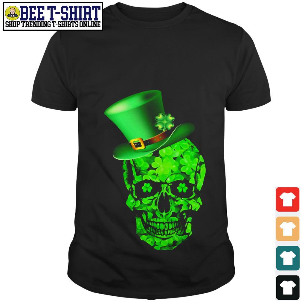 St. Patrick's Day green Irish Shamrock Skull shirt