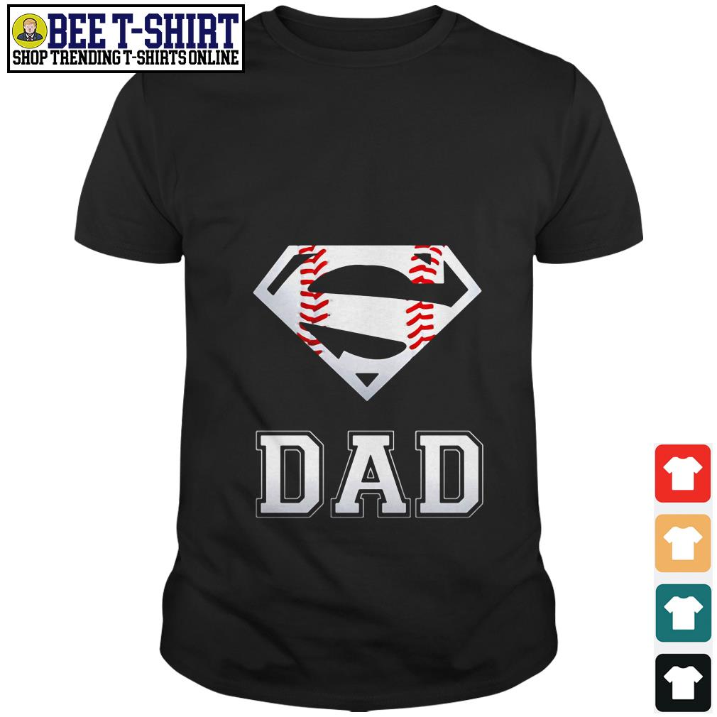 Superman dad logo baseball shirt