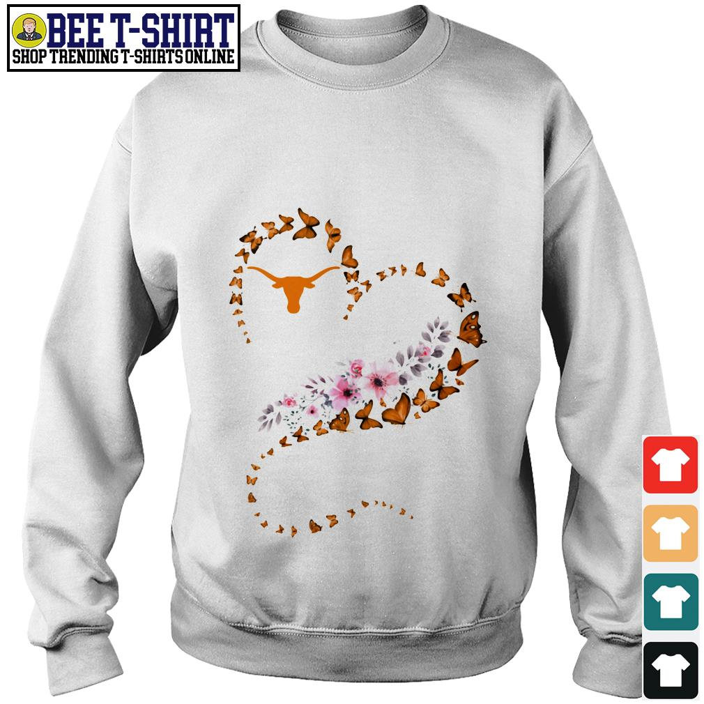 Texas Longhorns and flowers heart Sweater