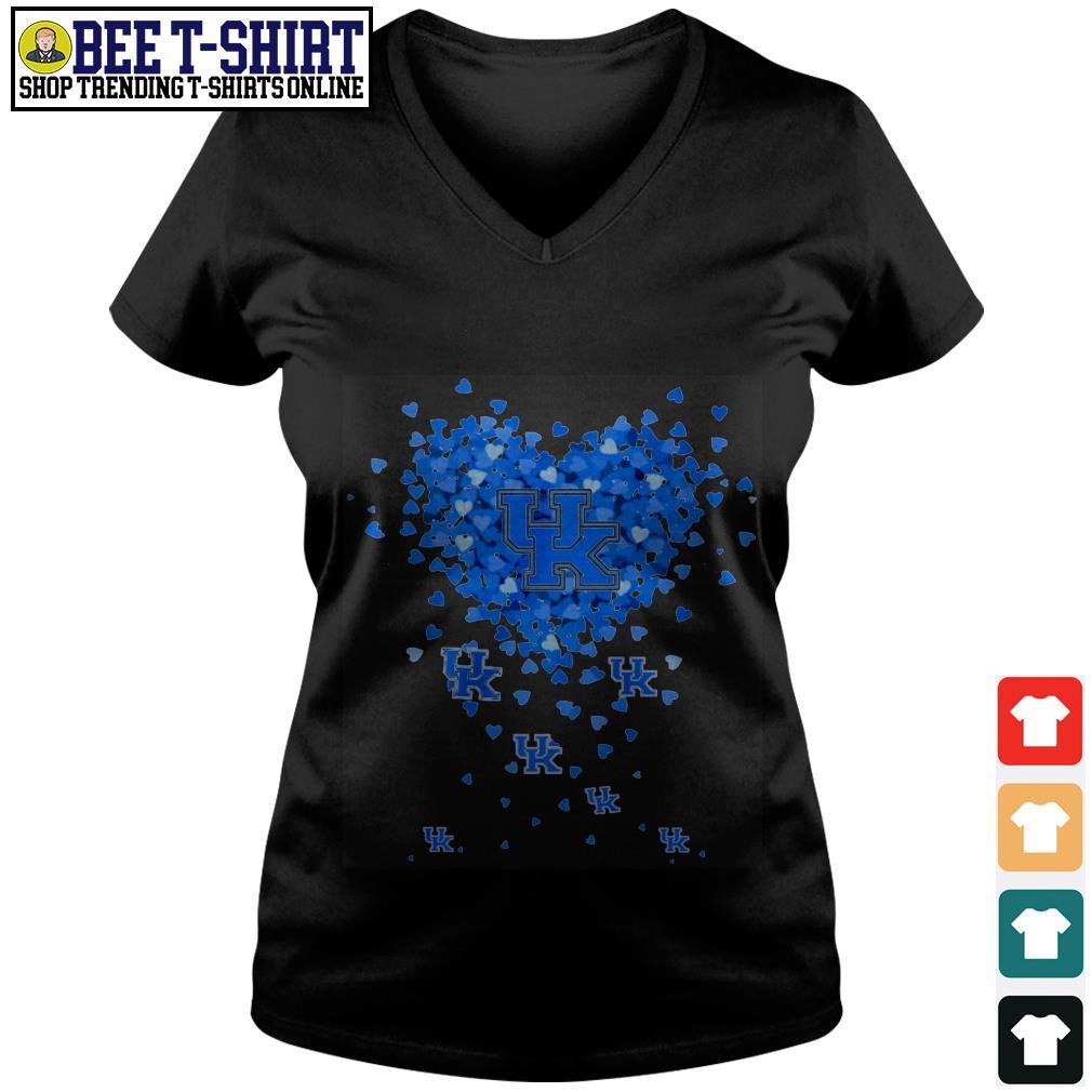 University of Kentucky valentine heart V-neck T-shirt