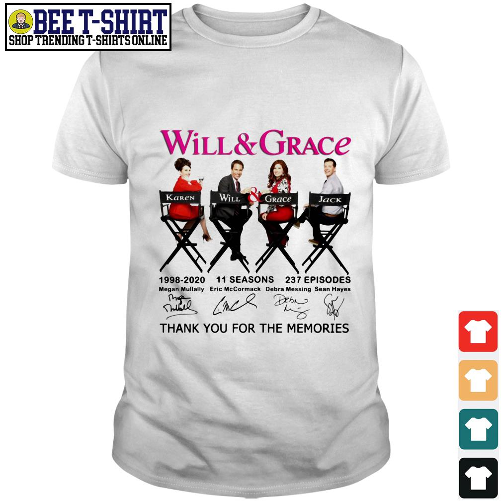 Will and Grace signature thank you for the memories shirt