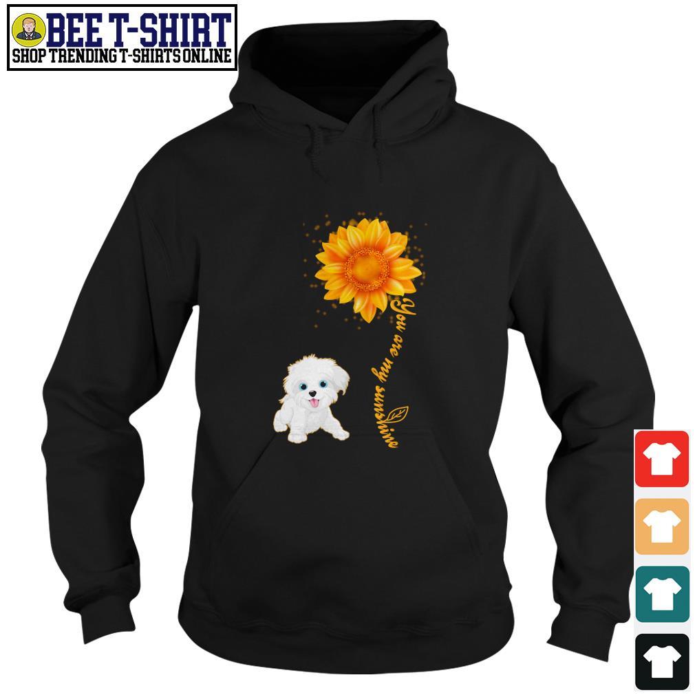 You are my sunshine Maltese sunflower Hoodie