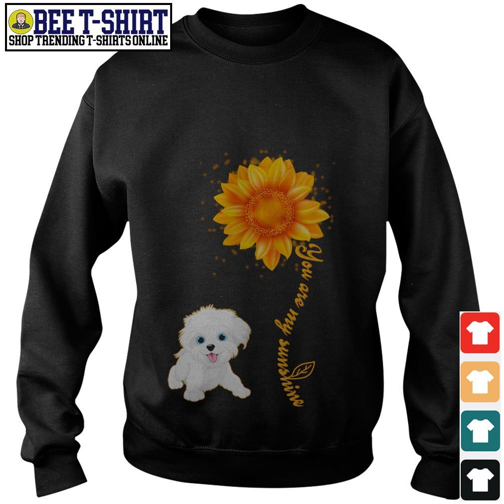 You are my sunshine Maltese sunflower Sweater