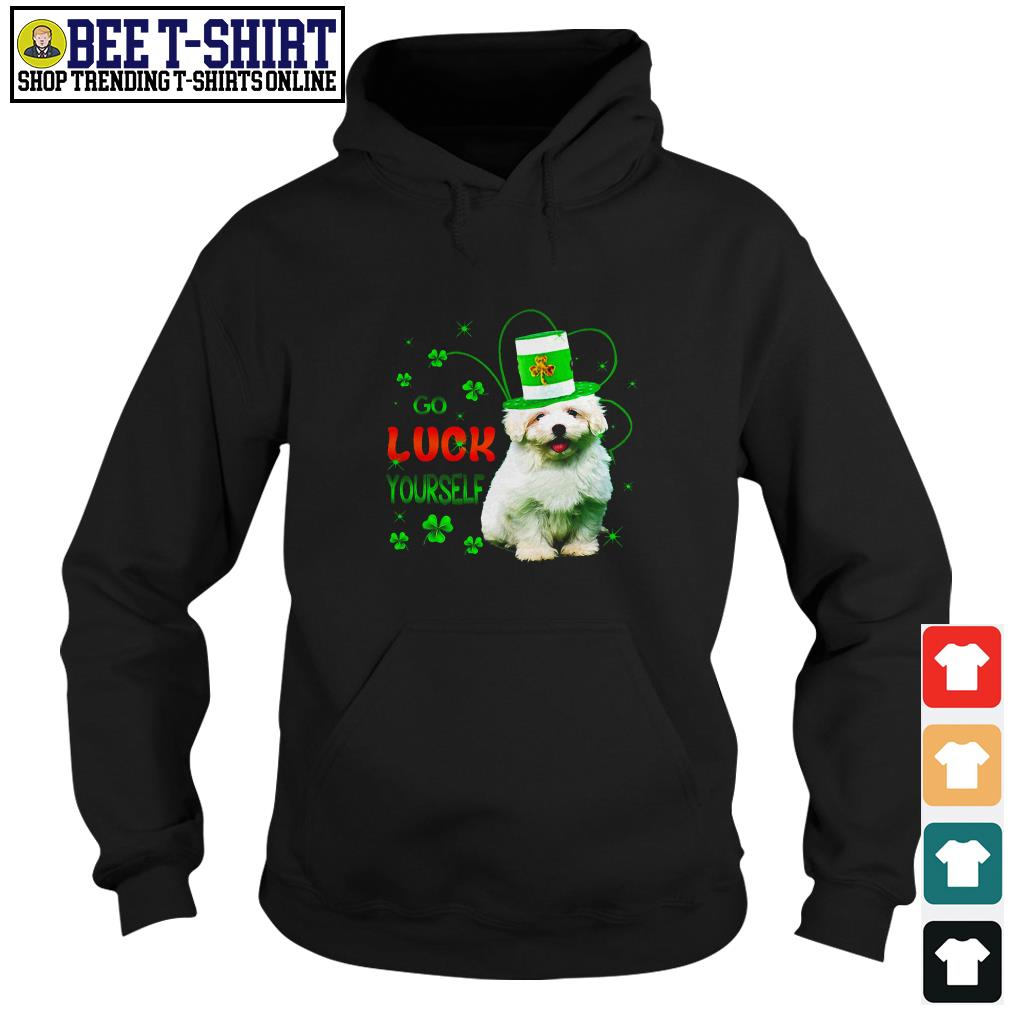 St' Patrick's Day go luck yourself baby Golden Retriever Hoodie
