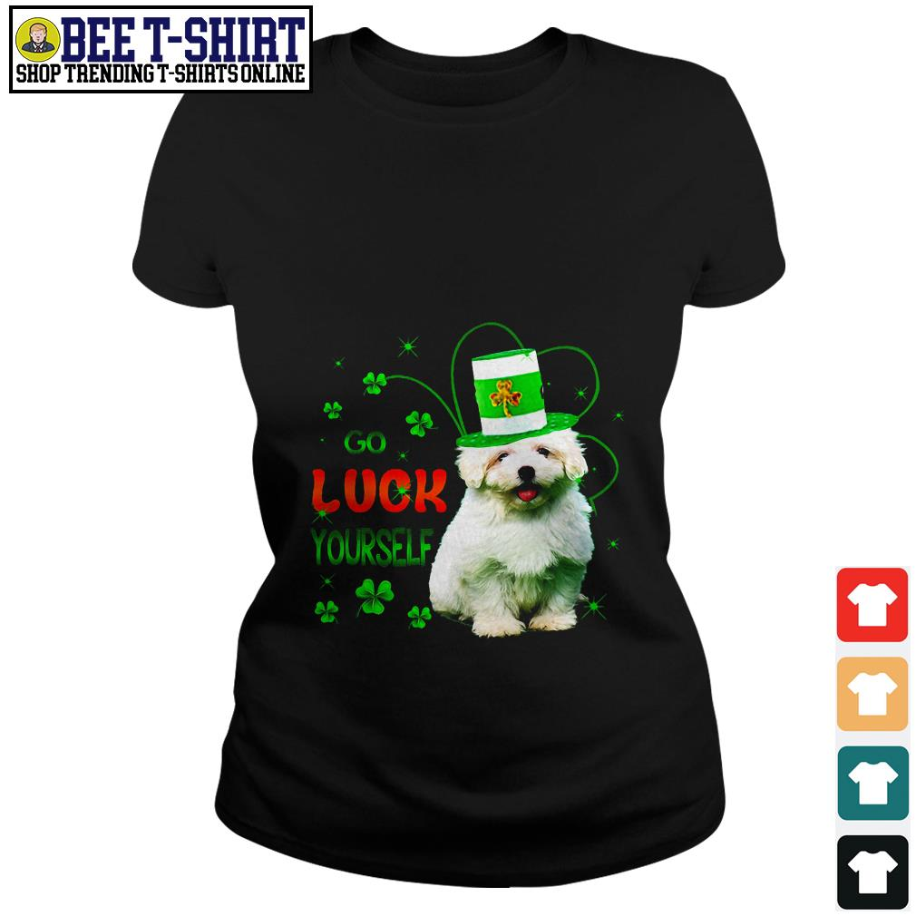 St' Patrick's Day go luck yourself baby Golden Retriever Ladies Tee