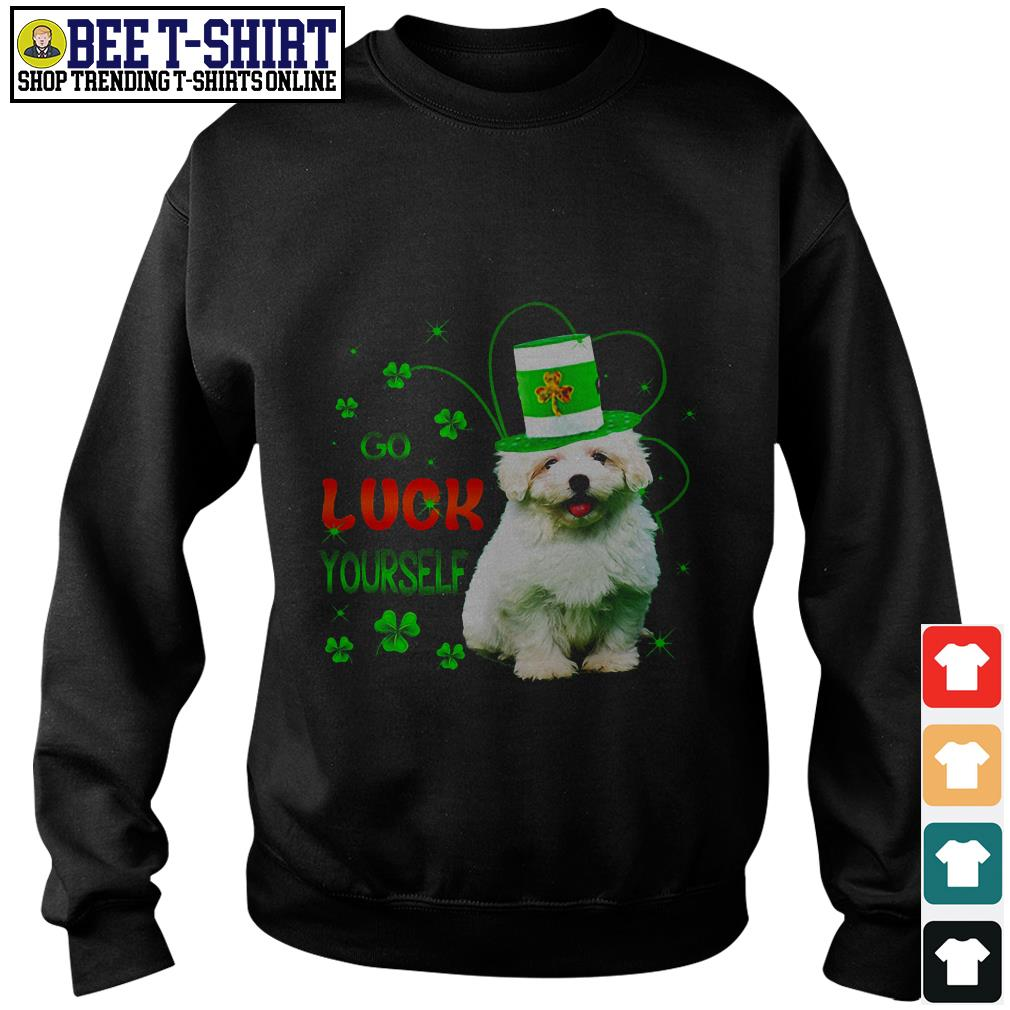 St' Patrick's Day go luck yourself baby Golden Retriever Sweater