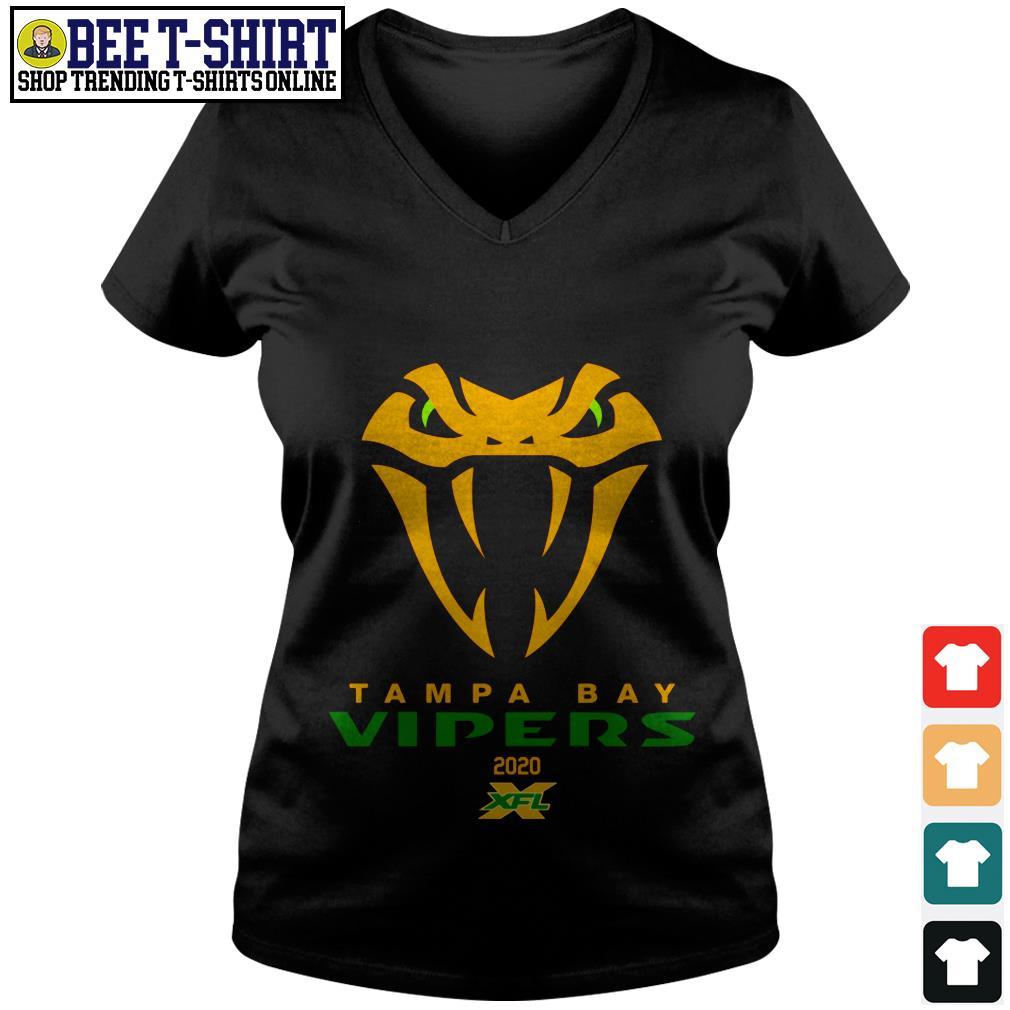 Tampa Bay Vipers 2020 XFL V-neck T-shirt