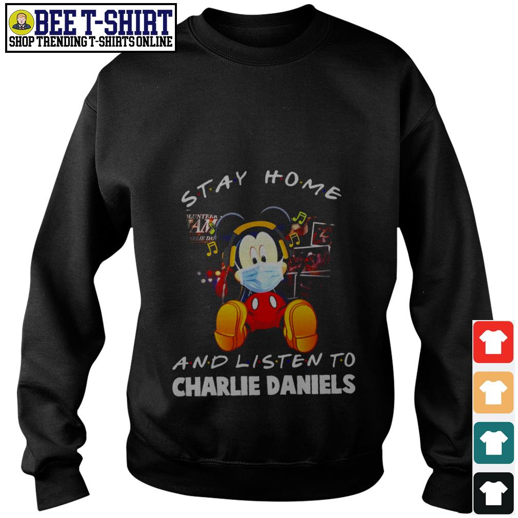Mickey Mouse stay home and listen to Charlie Daniels Sweater