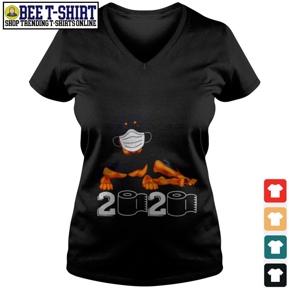 Rottweiler face mask 2020 V-neck T-shirt