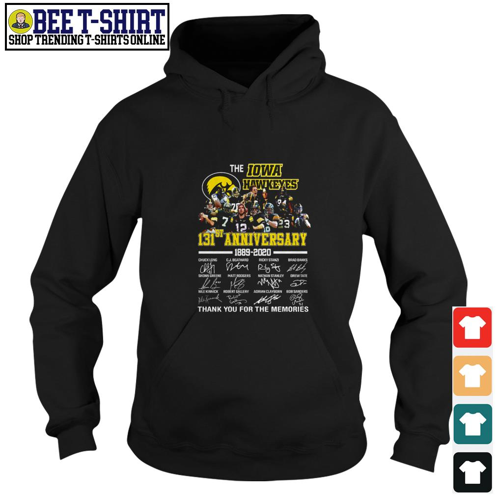 The Iowa Hawkeyes 131st anniversary 1889 2020 thank you for the memories Hoodie