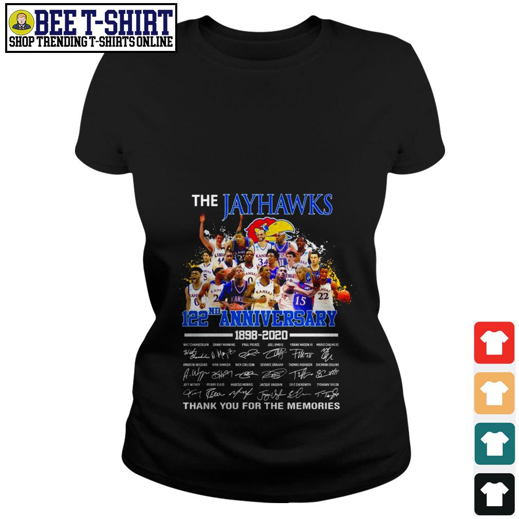 The Jayhawks 122nd anniversary 1898 2020 thank you for the memories Ladies Tee