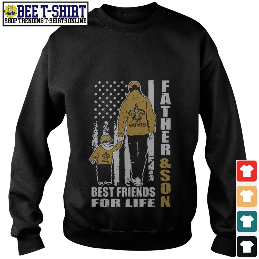 New Orleans Saints Father and son best friends for life Sweater