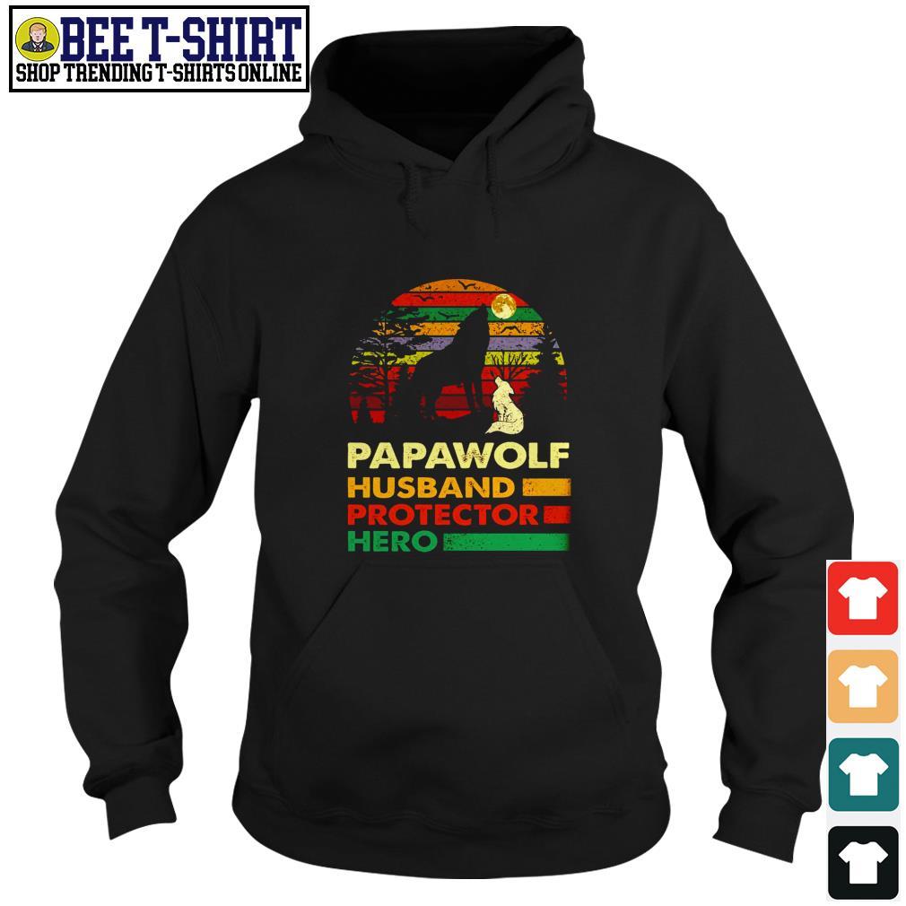 Papawolf husband protector hero vintage Hoodie
