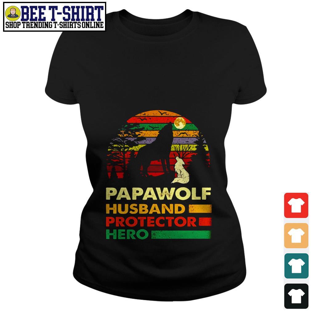 Papawolf husband protector hero vintage Ladies Tee