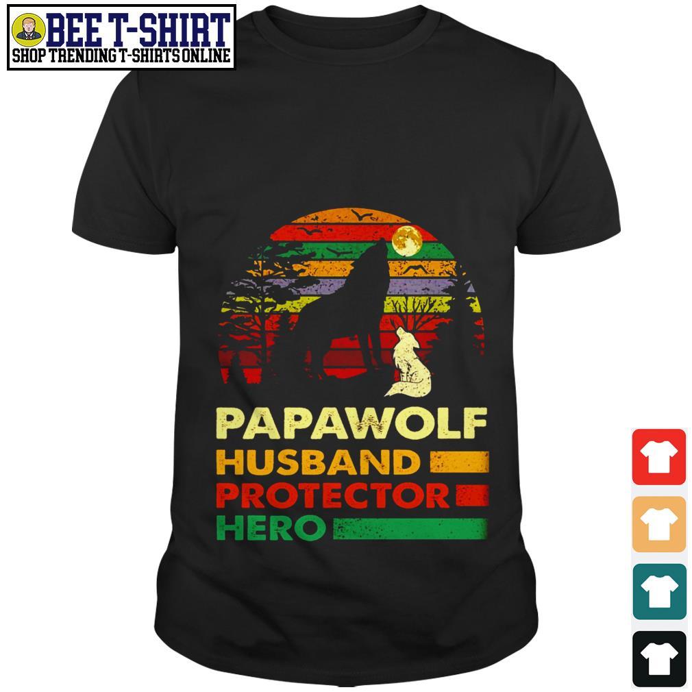Papawolf husband protector hero vintage shirt