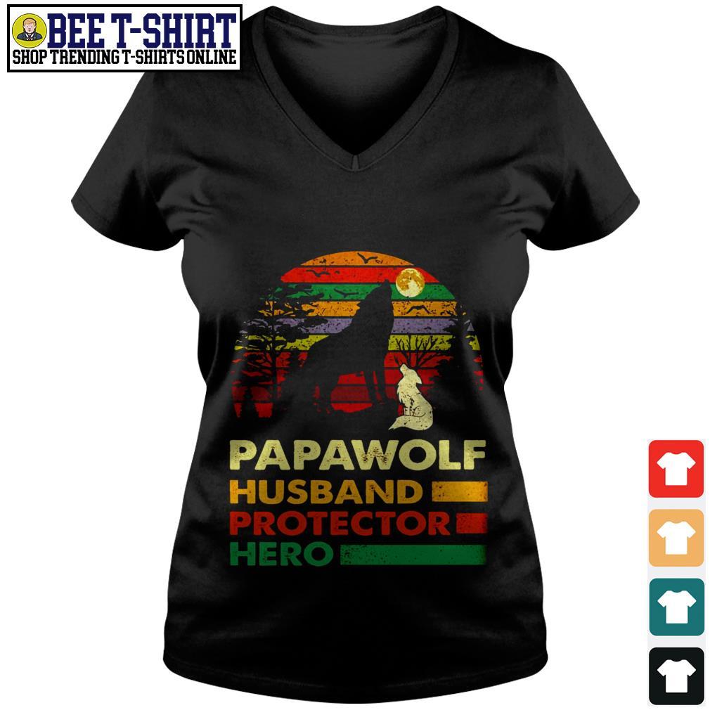 Papawolf husband protector hero vintage V-neck T-shirt