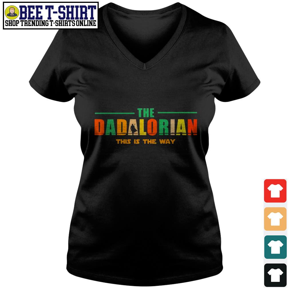 The dadlorian this is the way vintage V-neck T-shirt