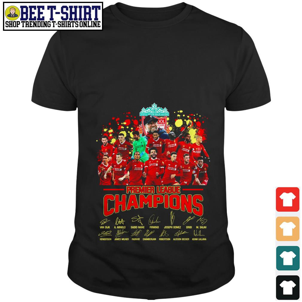 Liverpool FC Premier League Champions signatures shirt