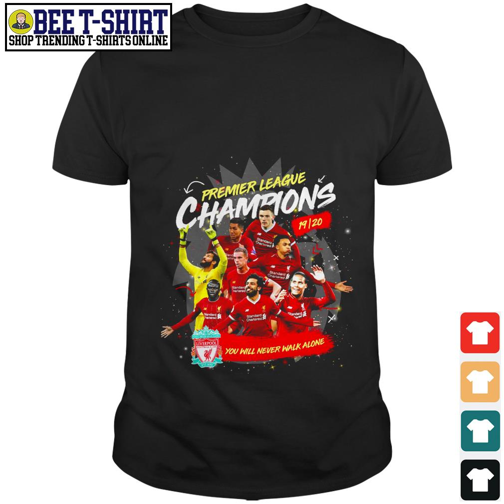 Liverpool FC Premier League Champions you will never walk alone shirt