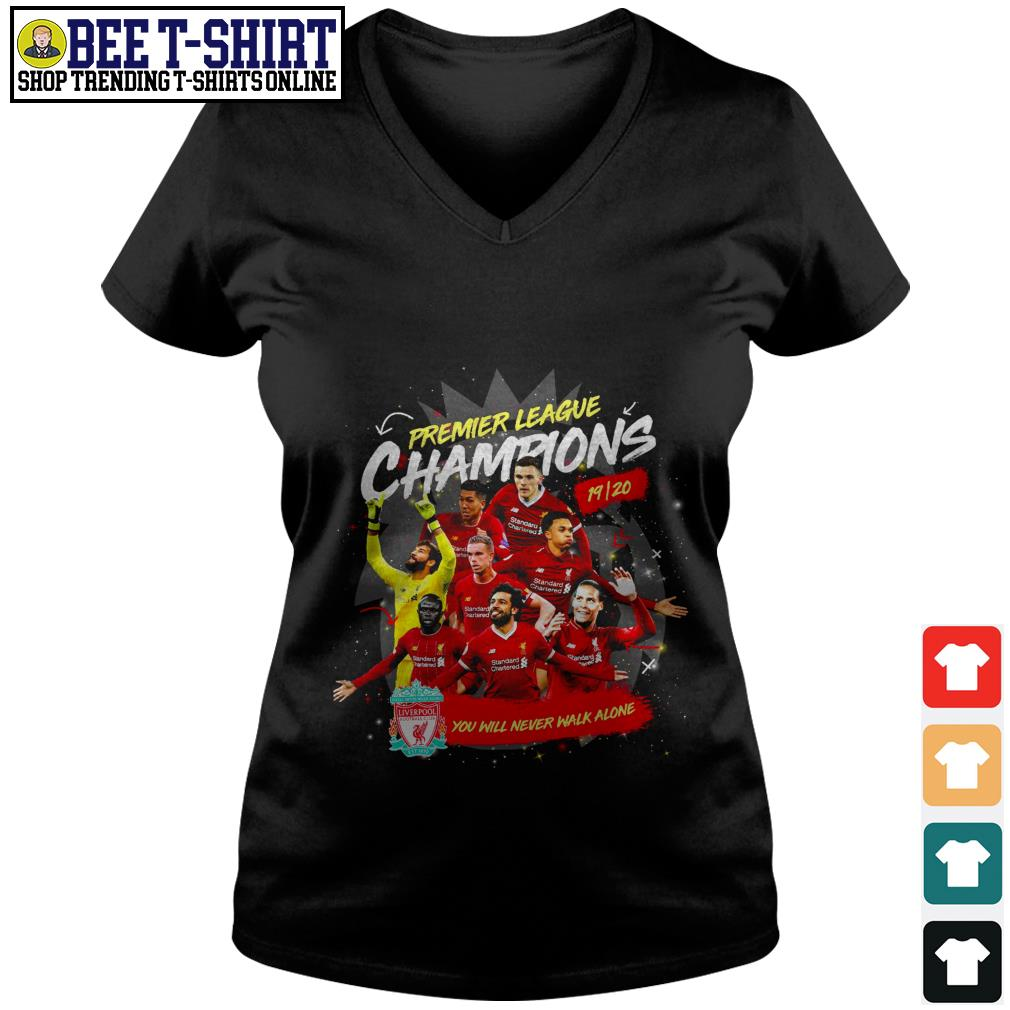 Liverpool FC Premier League Champions you will never walk alone V-neck T-shirt