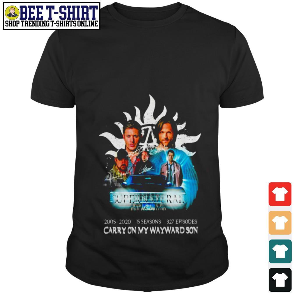 Supernatural carry on my wayward son shirt