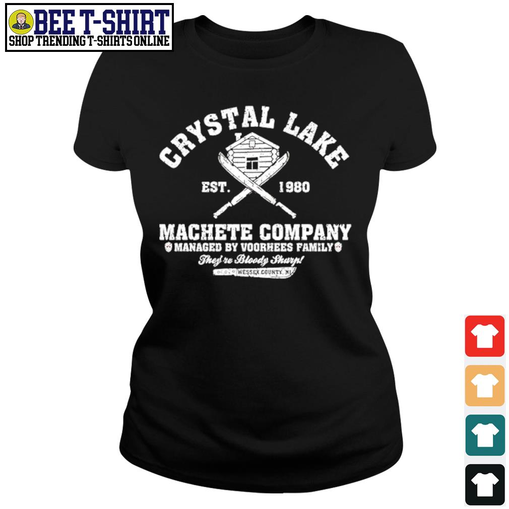 Crystal Lake est. 1980 Machete company managed by Voorhees family s ladies-tee
