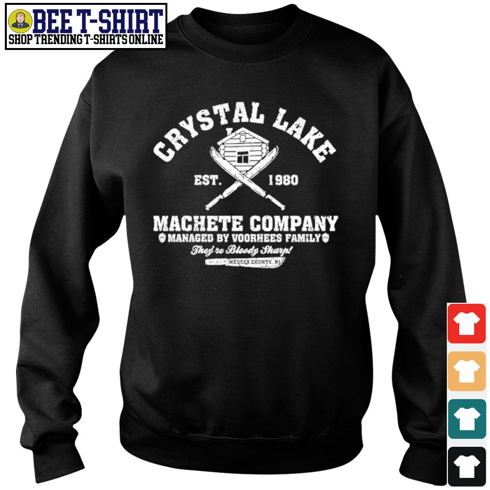 Crystal Lake est. 1980 Machete company managed by Voorhees family s sweater